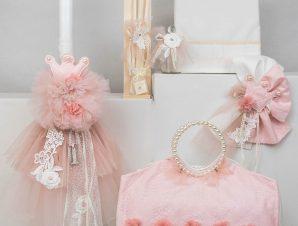 """Σετ Βάπτισης Loukia """"Flower Princess"""" E40"""