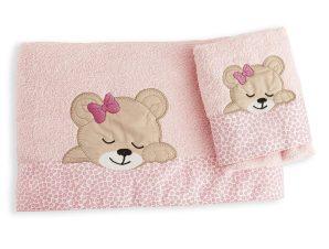 Βρεφικές Πετσέτες (Σετ 2τμχ) Dimcol Sleeping Bear Cub 14