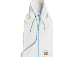 Βρεφική Κάπα DimCol Αστέρι 127 Λευκό/Σιέλ