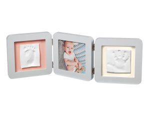 Κορνίζα Αποτύπωμα 3 Θέσεων Baby Art My Baby Touch Double Pastel BR73757