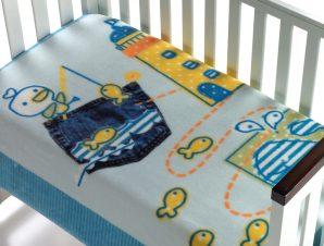 Κουβέρτα Βελουτέ Αγκαλιάς Morven Magic Baby 055 Σιέλ