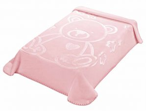 Κουβέρτα Βελουτέ Κούνιας Morven Colour Kid's 197 Ροζ