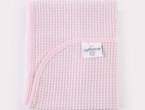 Κουβέρτα Πικέ Αγκαλιάς Rythmos Sweety Pink