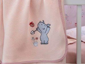 Κουβέρτα Πικέ Κούνιας Nima Baby Little Rhino