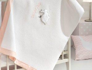 Κουβέρτα Πικέ Κούνιας Saint Clair Lapin Pink