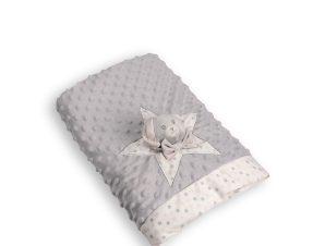 Κουβέρτα Fleece Αγκαλιάς Silk Fashion FSJ161001J Grey