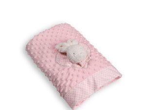Κουβέρτα Fleece Κούνιας Silk Fashion WL404F Pink
