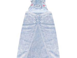 Κουβέρτα Fleece Με Κουκούλα Makis Tselios Baby Monocer Blue