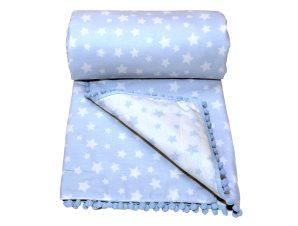 Κουβερλί Μουσελίνα Λίκνου Morven Molly 1905 Blue