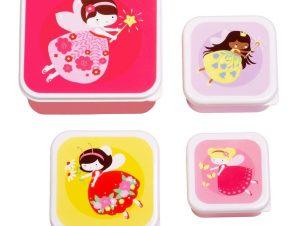 Μπωλ Με Καπάκι (Σετ 4τμχ) Α Little Lovely Company Fairy SBSEFA28
