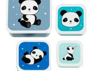 Μπωλ Με Καπάκι (Σετ 4τμχ) Α Little Lovely Company Panda SBSEPA19