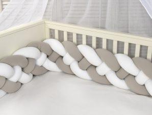 Πάντα Κούνιας – Πλεξούδα Baby Oliver Des 4400 Λευκό-Μόκα