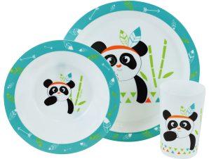Παιδικό Σετ Φαγητού 3τμχ Ango Indian Panda