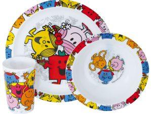 Παιδικό Σετ Φαγητού 3τμχ Ango Mr Men Little Miss