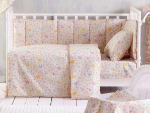 Παπλωματοθήκη Κούνιας (Σετ) Rythmos Baby Glow Pink