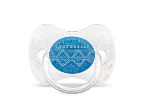 Πιπίλα Σιλικόνης Φυσιολογική 0-4Μ Suavinex H.Couture Blue