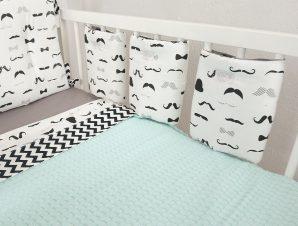Προστατευτικό Για Κάγκελα Κούνιας 1τμχ Bebe Moustache