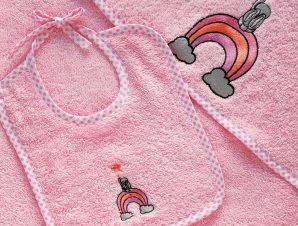 Σαλιάρα Melinen Baby Wish Pink