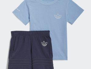 adidas Originals Adicolor Tricolor Short And Tee Βρεφικό Σετ (9000068876_14537)